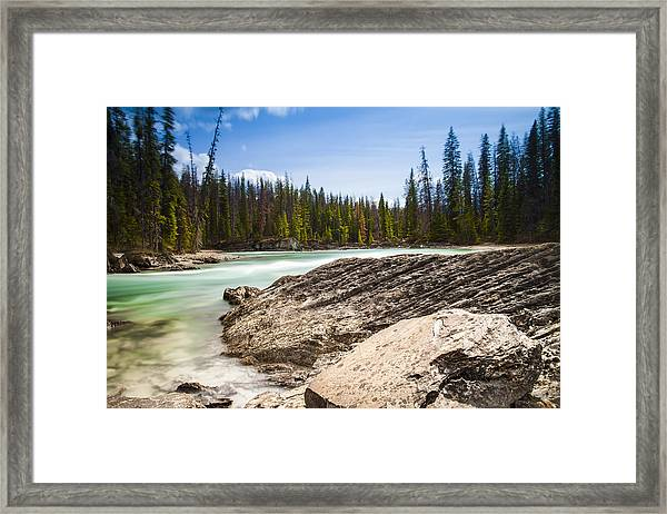 Rushing Water Framed Print by Chris Halford