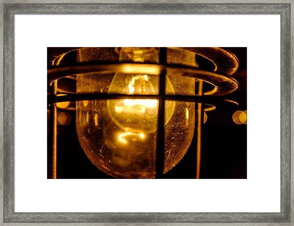 Rust Light Framed Print