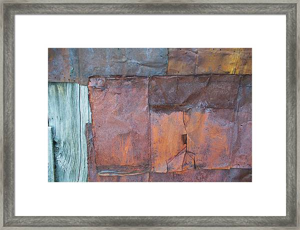 Rust Squared Framed Print