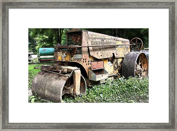 Rusted Buffalo Springfield Roller Framed Print