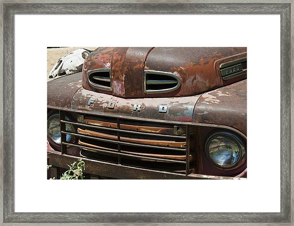 Rusted Ford In Hackberry Framed Print