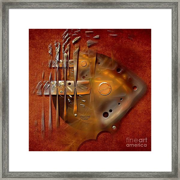 Rusted Machinery Framed Print