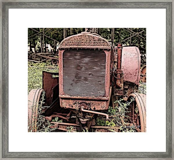 Rusted Mc Cormick-deering Tractor Framed Print