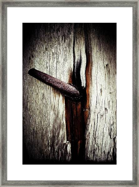 Rusted Time Framed Print