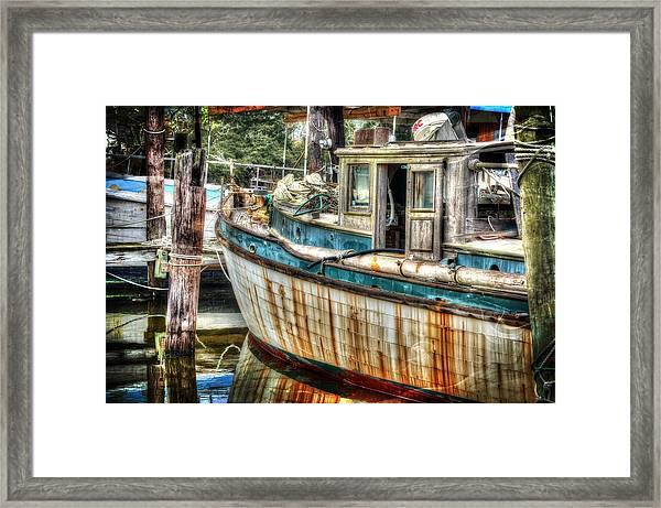 Rusted Wood Framed Print