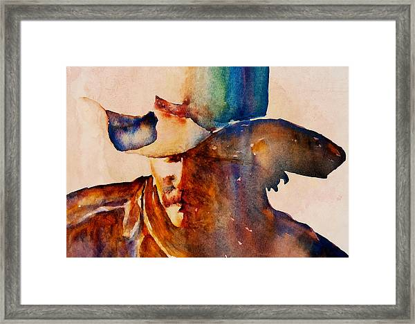 Rustic Cowboy Framed Print
