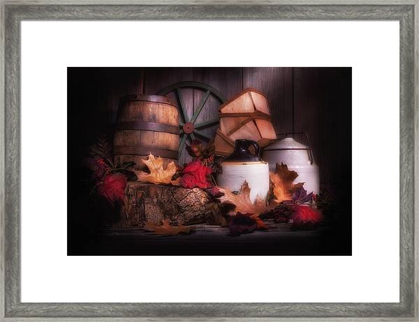 Rustic Fall Still Life Framed Print