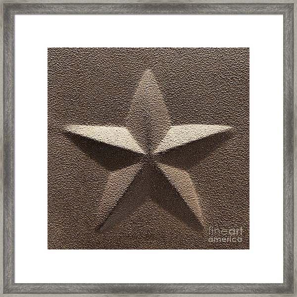 Rustic Five Point Star Framed Print