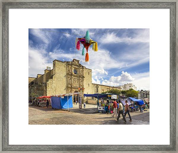 Rustic Spanish Colonial Church In Oaxaca Mexico Framed Print by Mark Tisdale