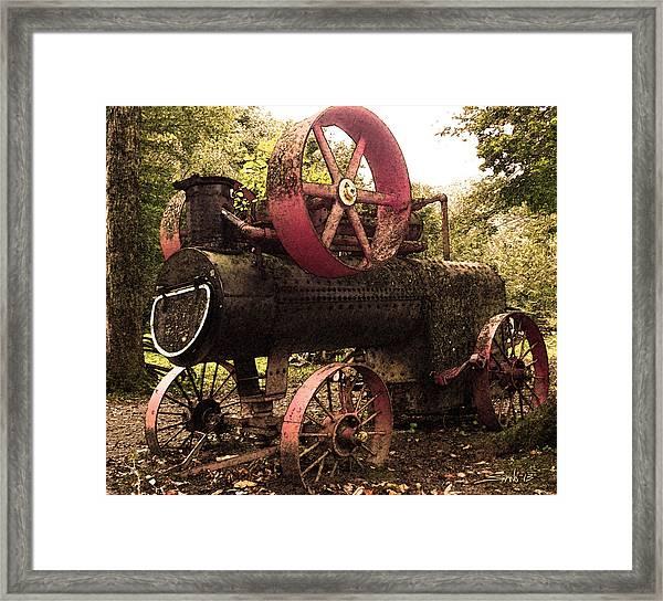 Rusty Antique Steam Engine Framed Print