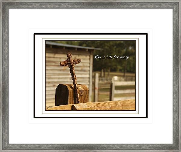 Rusty Cross Framed Print