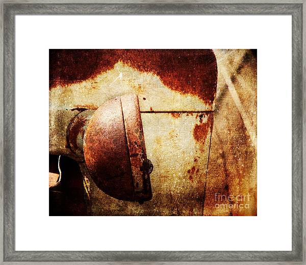 Rusty Headlamp Framed Print
