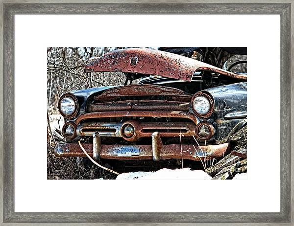 Rusty Old Car Framed Print