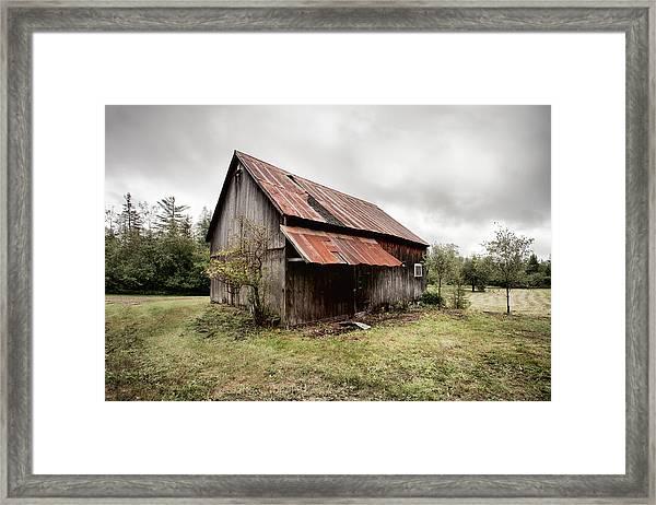 Rusty Tin Roof Barn Framed Print