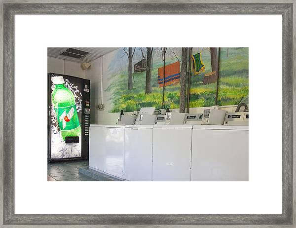 Rutledge Lake Rv Park Laundry Facilities Asheville Nc Framed Print