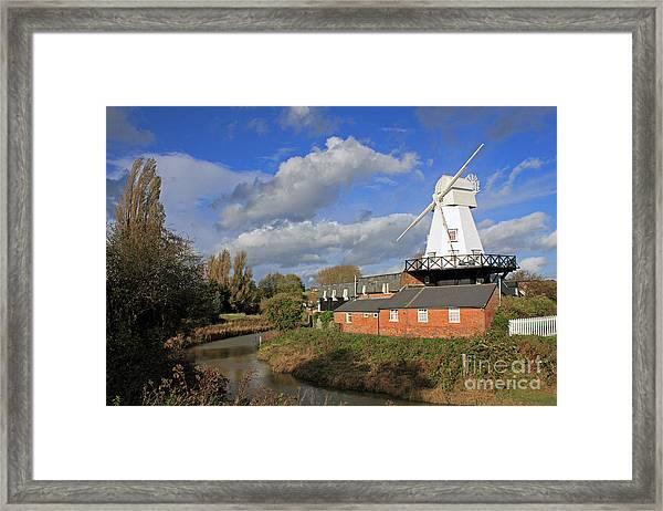 Rye Windmill Framed Print