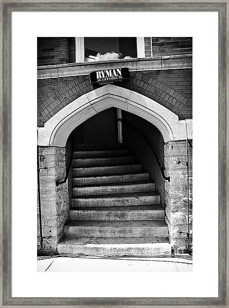Ryman Auditorium Back Door Framed Print