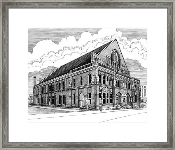 Ryman Auditorium In Nashville Tn Framed Print