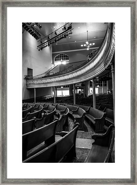 Ryman Auditorium Pews Framed Print
