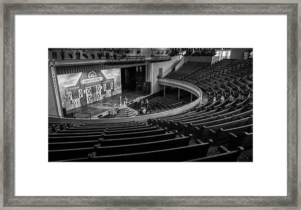 Ryman Stage Framed Print