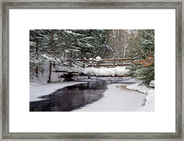 Sable Creek Footbridge  Framed Print