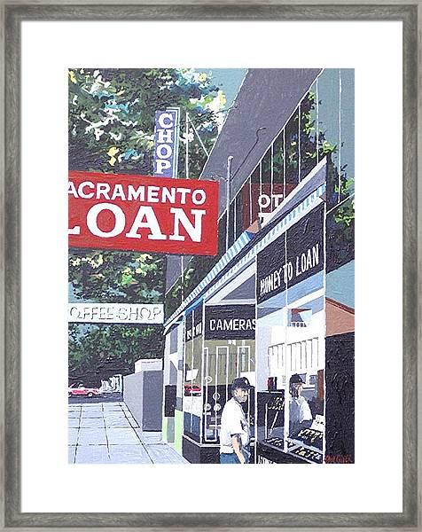 Sacramento Loan Framed Print by Paul Guyer