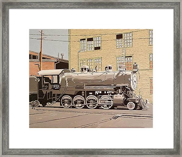 Sacramento Locomotive Works Framed Print by Paul Guyer