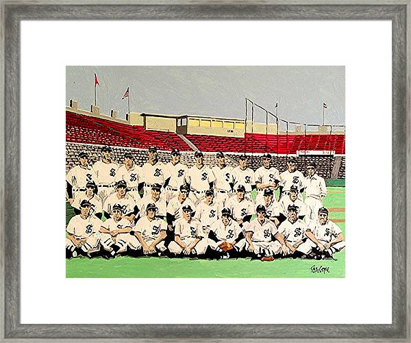 Sacramento Solons 1949 Framed Print by Paul Guyer