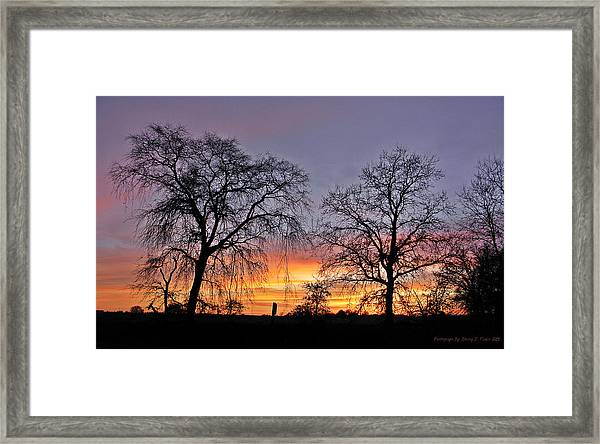 Sacramento Sunset Framed Print