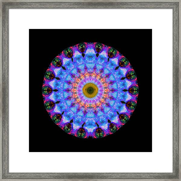 Sacred Crown - Mandala Art By Sharon Cummings Framed Print