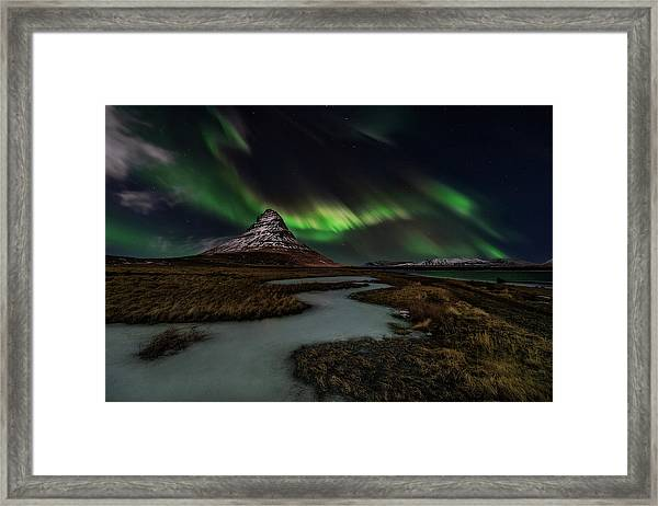 Sacred Kirkjufell Framed Print by Javier De La