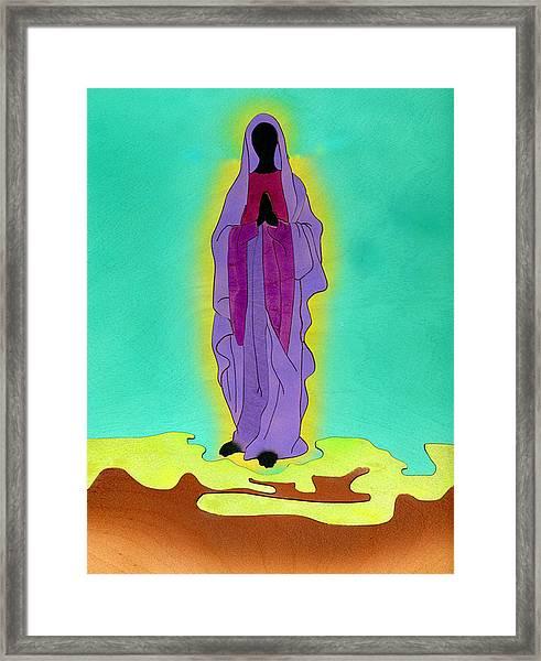 Sacred Mother Mary Framed Print