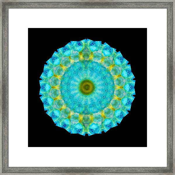 Sacred Voice - Mandala Art By Sharon Cummings Framed Print
