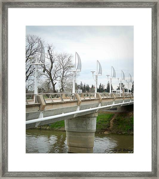 Sacramento California Water District Framed Print