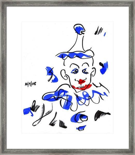 Sad Clowns Iv Framed Print