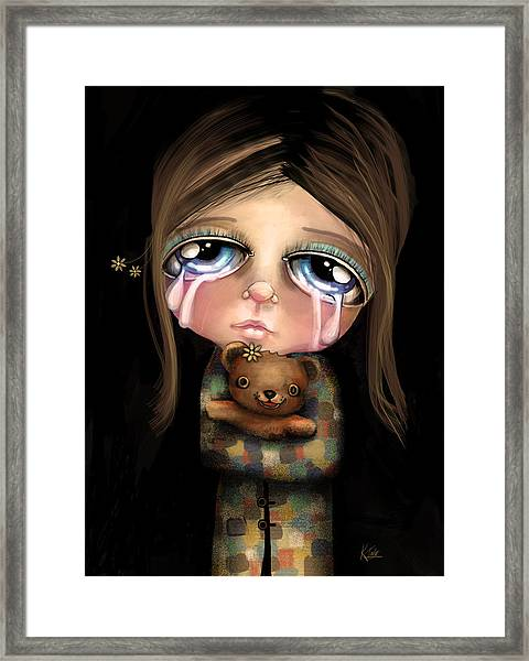 Sad Eyes Framed Print