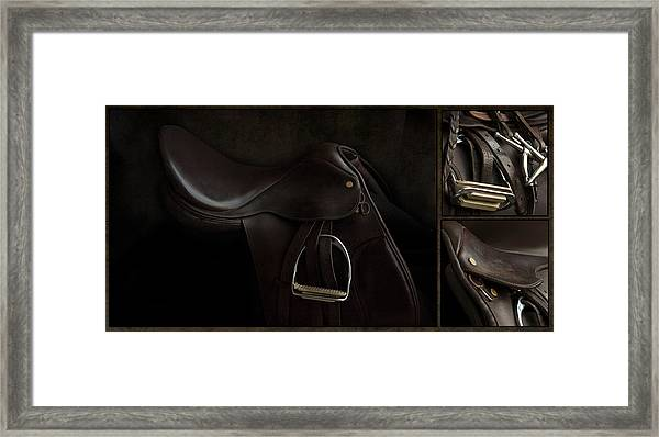 Saddle Triptych Framed Print