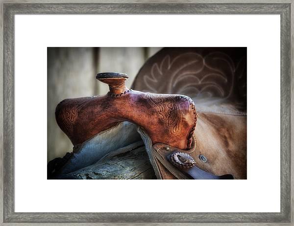 Saddle Up Still Life Framed Print