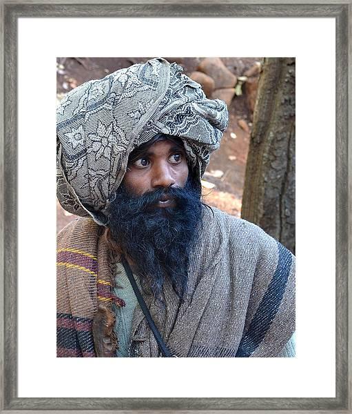 Sadhu At Amarkantak India Framed Print