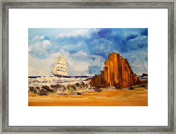 Safely Round The Horn Framed Print by Rich Mason