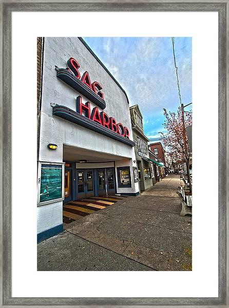 Sag Harbor Theater Framed Print