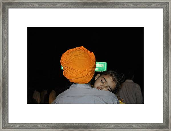 Sage Nap Framed Print by Bliss Of Art