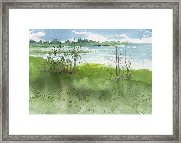 Saginaw Bay 7-26-13 Framed Print
