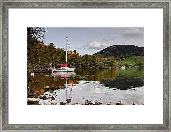 Sail Boat On Loch Ness Framed Print