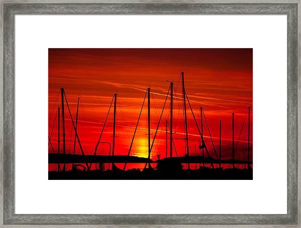 Sail Silhouettes Framed Print
