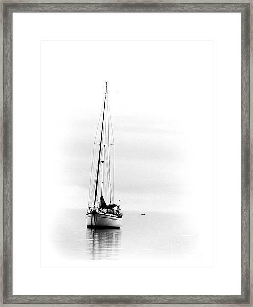 Sailboat Bw Too Framed Print