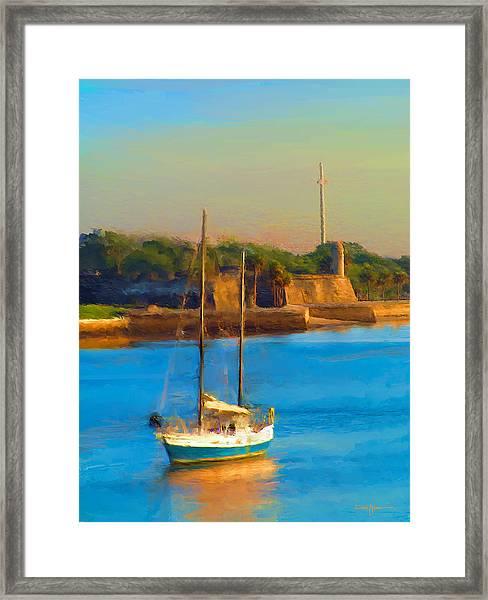 Da147 Sailboat By Daniel Adams Framed Print