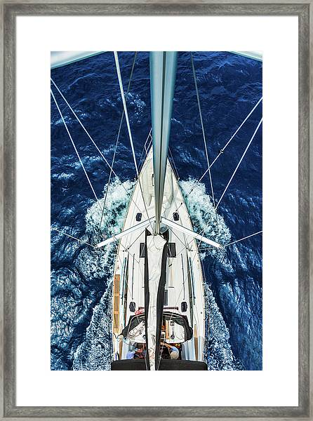 Sailboat From Above Framed Print