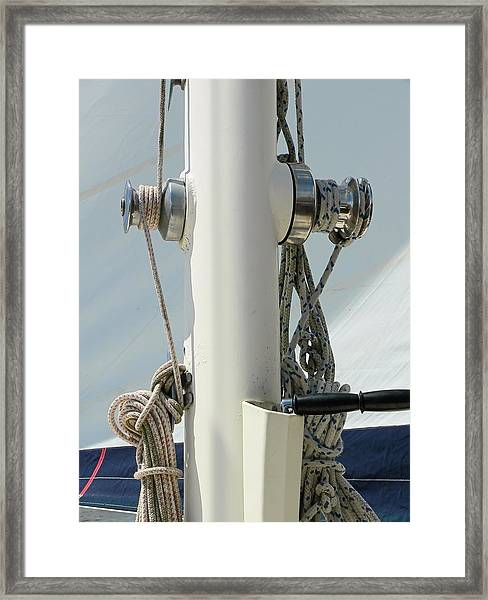 Sailboat Parts Close Up Framed Print