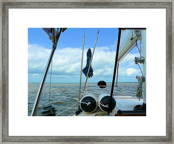Sailboat View Horizontal Framed Print